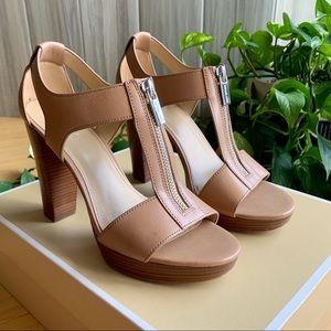MICHAEL Michael Kors Berkley T-Strap Nude Sandals